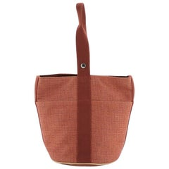 Hermes Saxo Handbag Toile MM