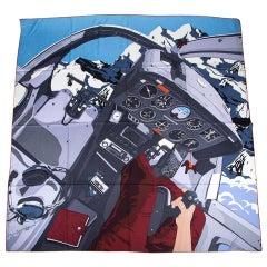 Hermes Scarf 140 High Flyer Scarf Cashmere / Silk Anthracite / Gris / Moyen