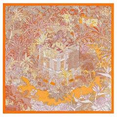 Hermes Scarf Faubourg Tropical Orange/ Mangue / Rose 90 Silk New w/Box