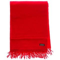 Hermès Scarf in 100% red Cashmere