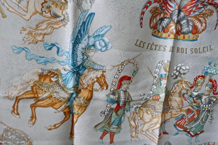 "Hermès Scarf, in 100% Silk, Michel Duchene design ""Les Fetes du Roi Soleil""  For Sale 5"