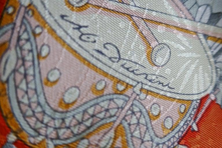 "Hermès Scarf, in 100% Silk, Michel Duchene design ""Les Fetes du Roi Soleil""  For Sale 1"
