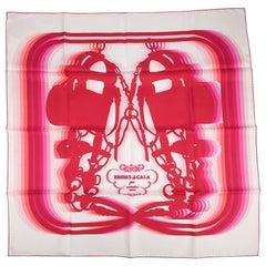 Hermes Scarf Brides de Gala Shadow 90 Blanc Rouge Rose Vif Silk Twill nwt