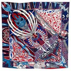 Hermes Scarf Kawa Ora Silk 90 Designed by Te Rangitu Netana