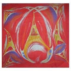 HERMES Scarf 'La Tour s'envole' in Multicolored Silk