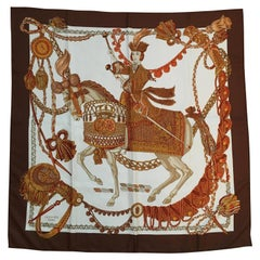 Hermes Scarf Le Timbalier by Francoise Heron 1961 in Box 90cm
