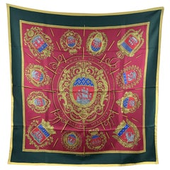 HERMES scarf 'Les Armes De Paris' by Hugo Grygkar and originally issued in 1954.