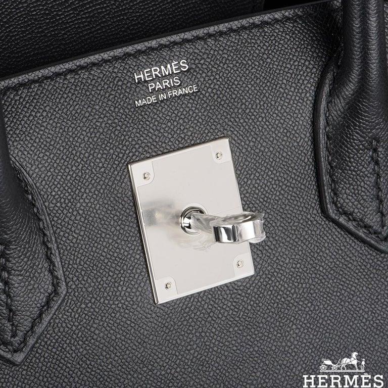 Women's or Men's Hermès Sellier Birkin 30 Noir Veau Madame PHW For Sale