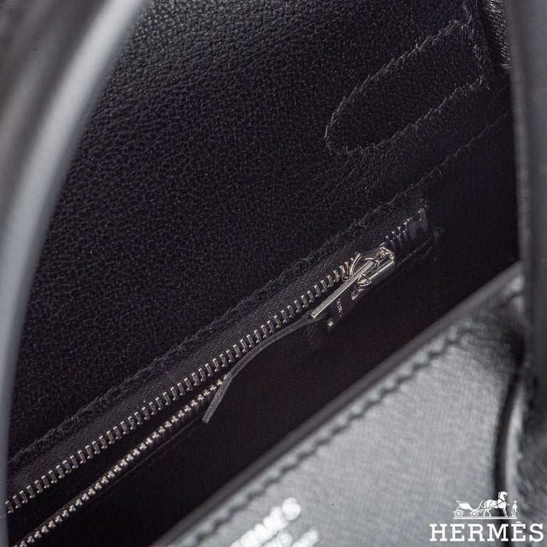 Hermès Sellier Birkin 30 Noir Veau Madame PHW For Sale 1