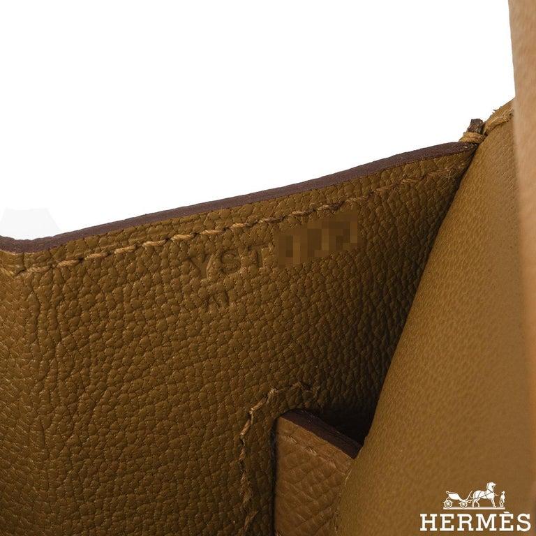 Hermès Sellier Birkin 35 Rainbow Sunrise Epsom PHW For Sale 2