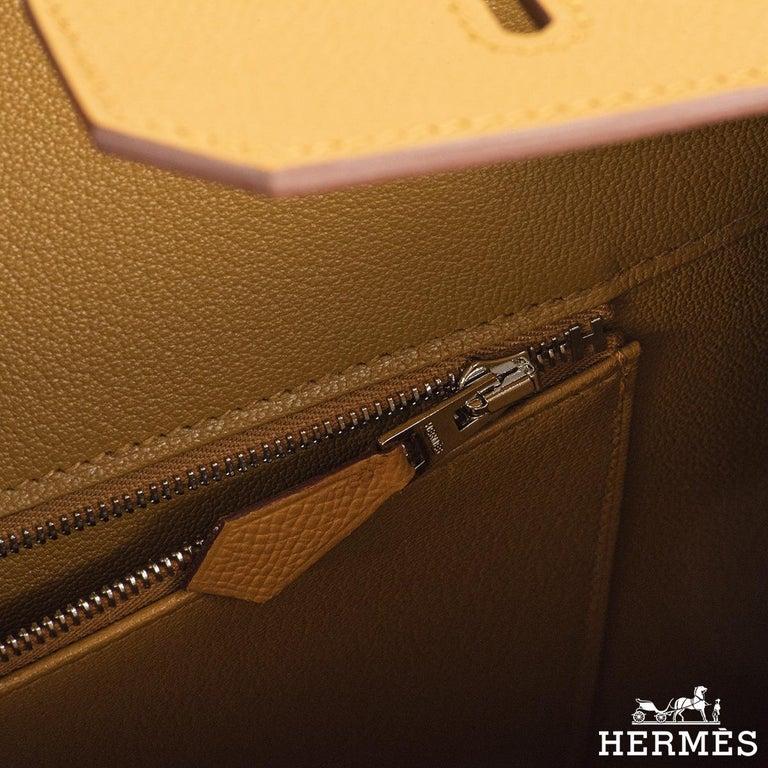 Hermès Sellier Birkin 35 Rainbow Sunrise Epsom PHW For Sale 3
