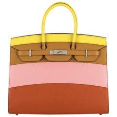 Hermès Sellier Birkin 35 Rainbow Sunrise Epsom PHW