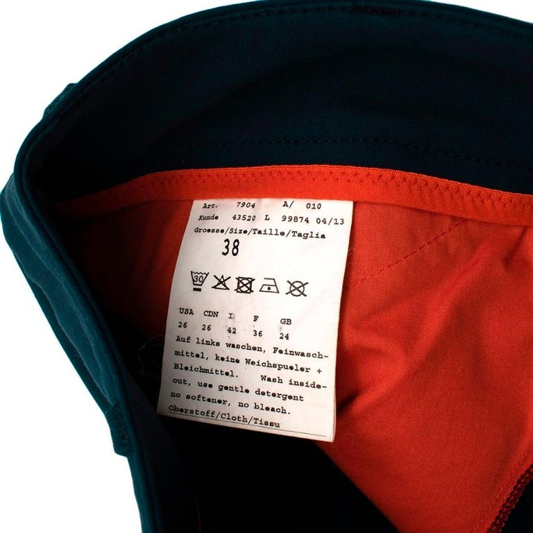 Hermes Sellier Navy Jump Riding Breeches - Size US 6 In Excellent Condition For Sale In London, GB