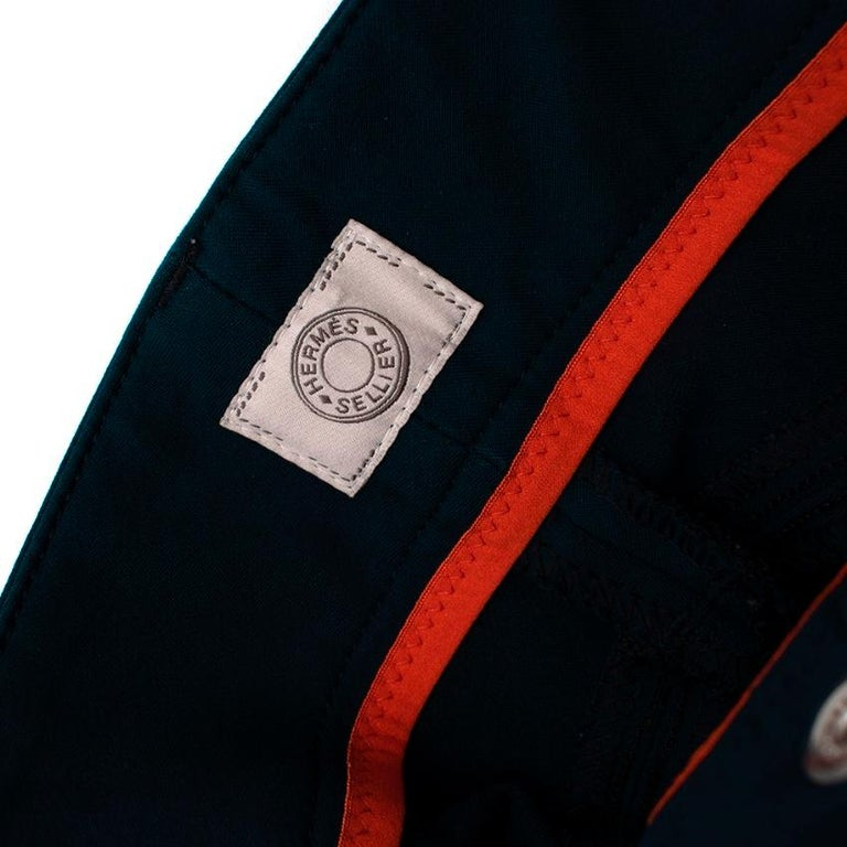 Hermes Sellier Navy Jump Riding Breeches - Size US 6 For Sale 3