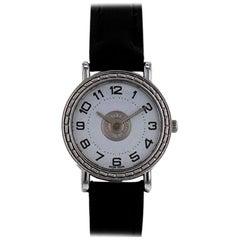 "Hermès ""Sellier"" Stainless Steel Watch"