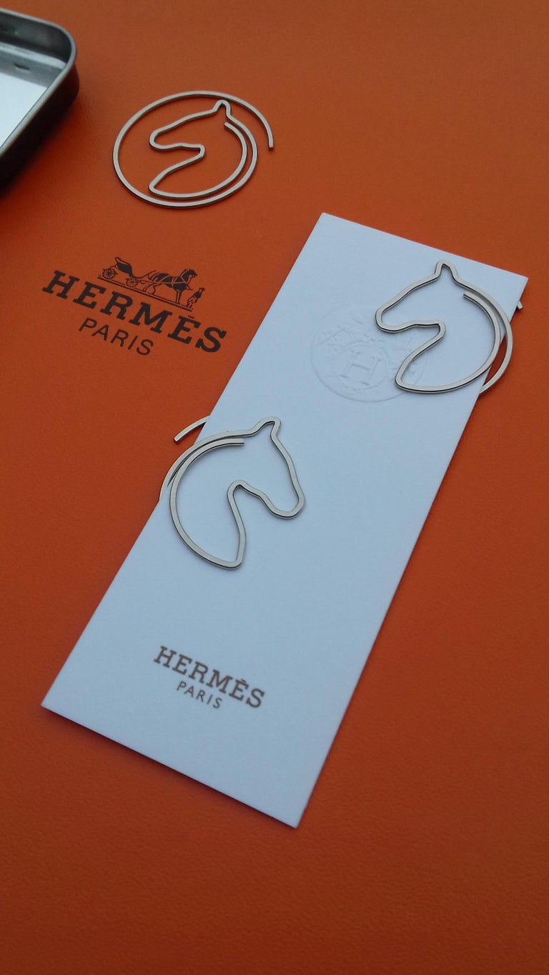 Hermès Set of 19 Paper Clips Shape of a horse's head in Box 4