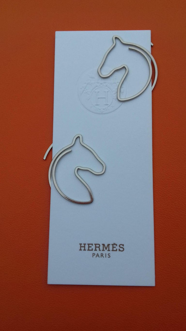 Hermès Set of 19 Paper Clips Shape of a horse's head in Box 5