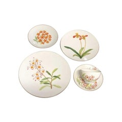 Hermes Set of Six Orchid Place Setting, 30 Pieces