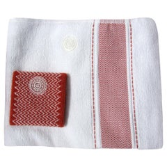 Hermès Set of Sports Towel and Sweatband Tennis Combed Cotton