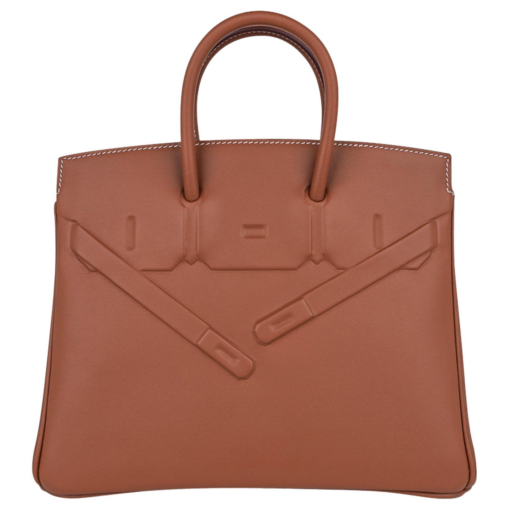 Hermes Shadow Birkin 25 Bag Gold Evercalf Limited Edition