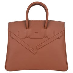 Hermes Shadow Birkin 25 Bag Gold Evercalf Limited Edition