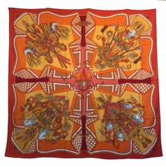 Hermes Shawl Bouquets Selliers in Multicolored Cashmere and Silk