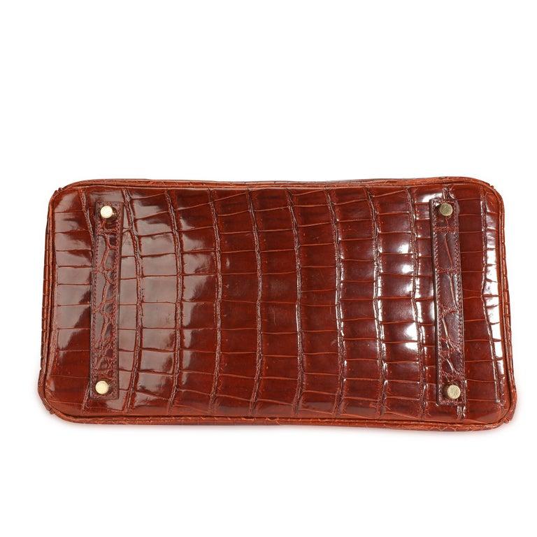 Women's Hermès Shiny Miel Porosus Crocodile Birkin 35 GHW