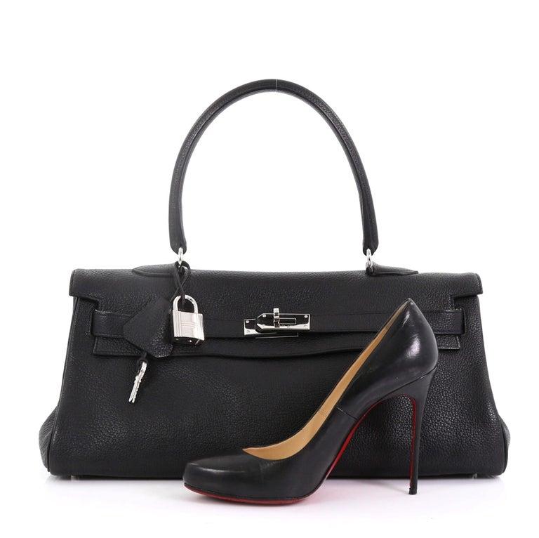 1c493cd8d7e7 Hermes Shoulder Kelly Handbag Clemence 42 For Sale at 1stdibs
