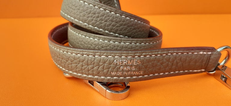 Hermès Shoulder Strap Etoupe Togo Leather Palladium Hardware  For Sale 1