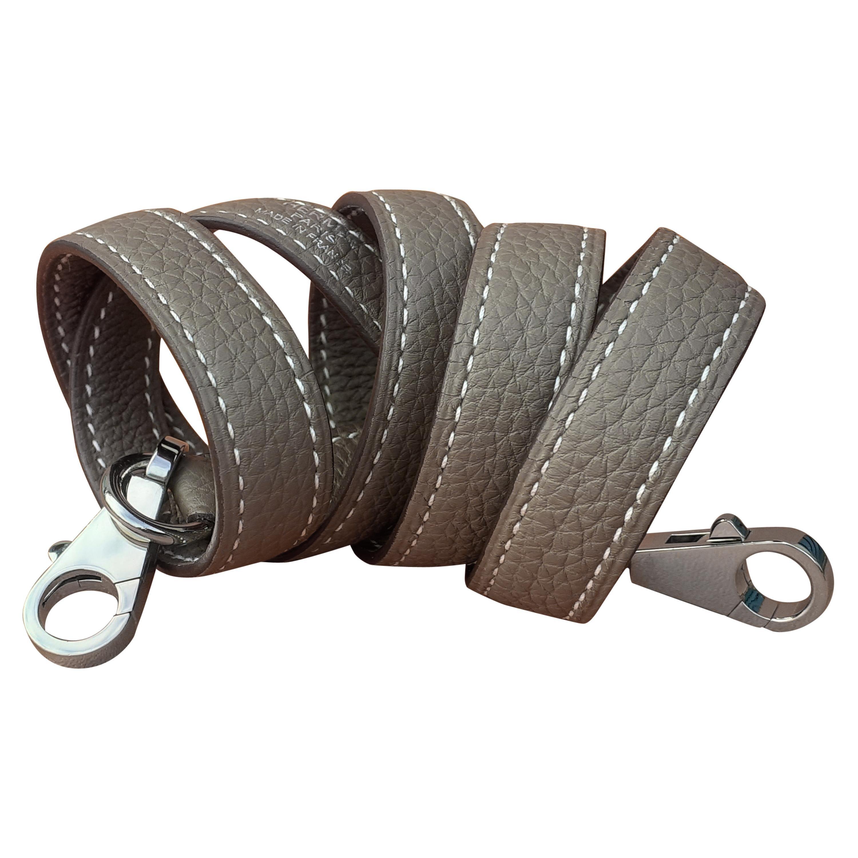Hermès Shoulder Strap Etoupe Togo Leather Palladium Hardware