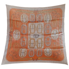 Hermès Silk and Polyster Scarf Bouclerie D'attelage Carré Glitter Rare