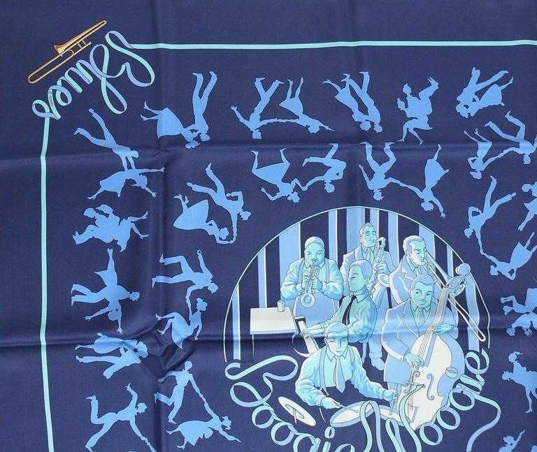 Hermes Silk Carre Scarf Boogie Woogie by Sophie Koechlin For Sale 1