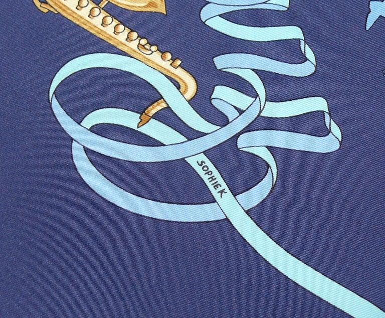 Hermes Silk Carre Scarf Boogie Woogie by Sophie Koechlin For Sale 3
