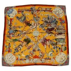 Hermes Silk Carre Scarf Les Danses des Indiens by Kermit Oliver