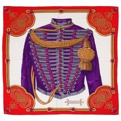 "Hermes Silk Cashmere 55"" Brandenburg Shawl, Cathy Latham"