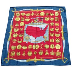 Hermès Silk Scarf 1776 UNITES STATES 1976 Bicentenary of Independance Arms of US