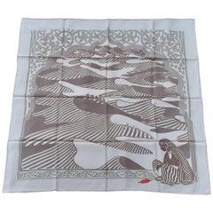 Hermès Silk Scarf Au fil de l'Inde India Rybaltchenko 90 cm RARE