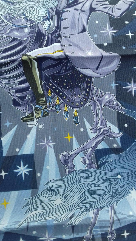 Hermès Silk Scarf C'est la Fete Daisuke Nomura Ciel Bleu CW01 70cm For Sale 7