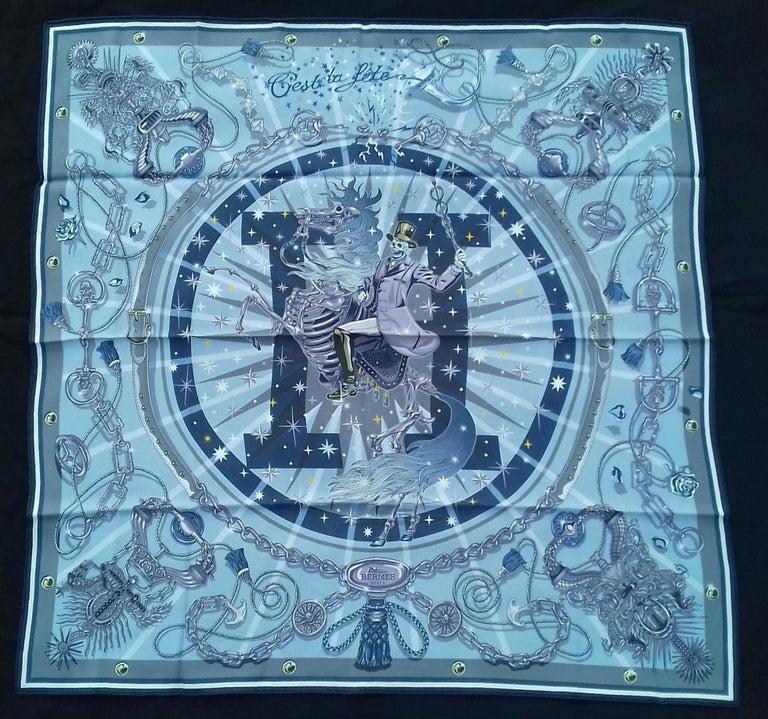 Beautiful Authentic Hermès Scarf  Pattern: