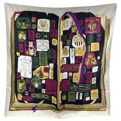 Hermes Silk Scarf Chiffres et Monogrammes 1962 Coutin Original Issue