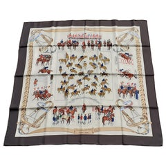 Hermès Silk Scarf Concours Hippique Lamotte 90 cm RARE