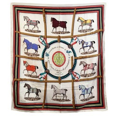 Hermes Silk Scarf Couvertures et Tenues de Jour Eudel with Defects