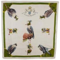 Hermes Silk Scarf Fauconnerie Royal Deduits by Henri de Linares 1956
