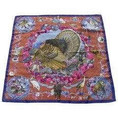 Hermès Silk Scarf Faune et Flore du Texas TX Breathtaking Colorway 35'