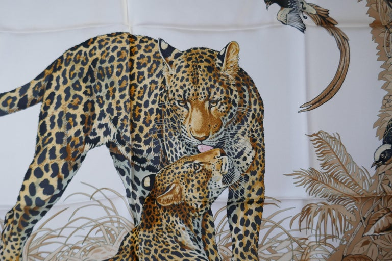 "Hermes Silk Scarf "" JUNGLE LOVE"" Design by Robert Dallet For Sale 1"