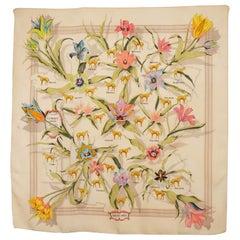 HERMES Silk Scarf  La France Hippique 1854