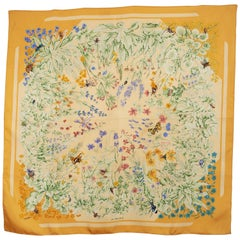 HERMES Silk Scarf  La Prairie  by Antoine de Jacquelot circa 1994