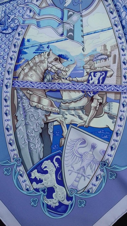 Hermès Silk Scarf La Vie à Cheval Bourthoumieux Purple 90 cm For Sale 2
