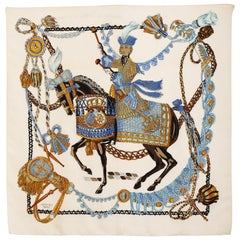 Hermes silk scarf Le Timbalier by Francoise Heron 1961