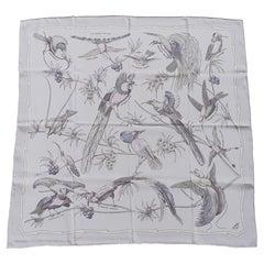 Hermès Silk Scarf Les Oiseaux des Iles Charles Pittner 66 cm RARE